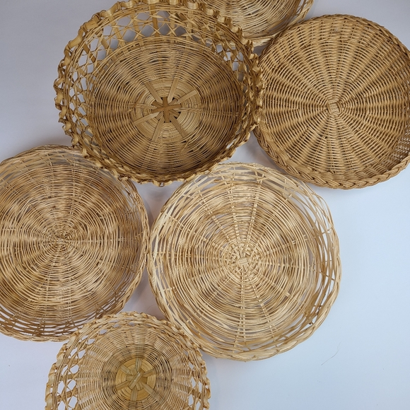 6pcs vintage basket bundle
